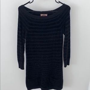 Juicy Couture black shimmering sweater dress